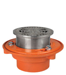 "FLOOR DRAIN - TYPE ""A-SS"" ROUND ADJUSTABLE STRAINER"