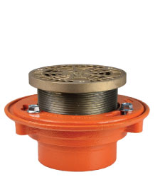 "FLOOR DRAIN - TYPE ""AL"" ROUND ADJUSTABLE LEVELING STRAINER"