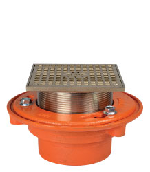 "FLOOR DRAIN - TYPE ""S"" SQUARE ADJUSTABLE STRAINER"