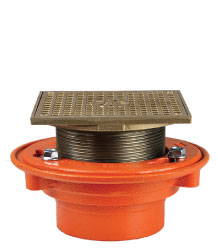 "FLOOR DRAIN - TYPE ""SL"" SQUARE ADJUSTABLE LEVELING STRAINER"