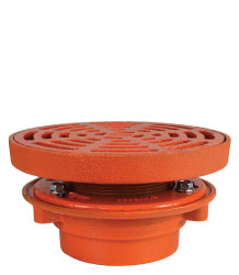 "FLOOR DRAIN - 9"" HEAVY DUTY ROUND TOP"