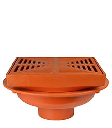 "FLOOR DRAIN - 12"" HEAVY DUTY SQUARE TOP"