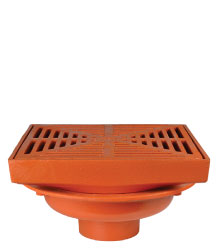 "FLOOR DRAIN - 16"" HEAVY DUTY SQUARE TOP"
