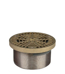 ROUND ADJUSTABLE LEVELING STRAINER - NICKEL BRONZE