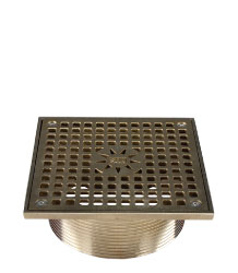 SQUARE ADJUSTABLE STRAINER - NICKEL BRONZE