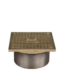 SQUARE ADJUSTABLE LEVELING STRAINER - NICKEL BRONZE